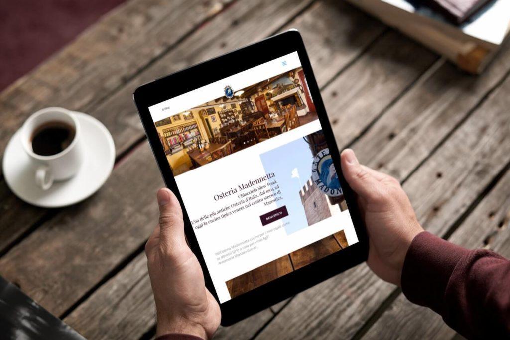 nuovo sito web Osteria Madonnetta Marostica
