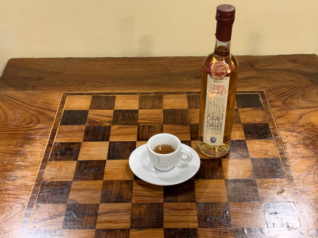 Rasentin con caffè e grappa di Osteria Madonnetta Marostica Vicenza